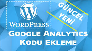 Wordpress google analiytcs kodu ekleme